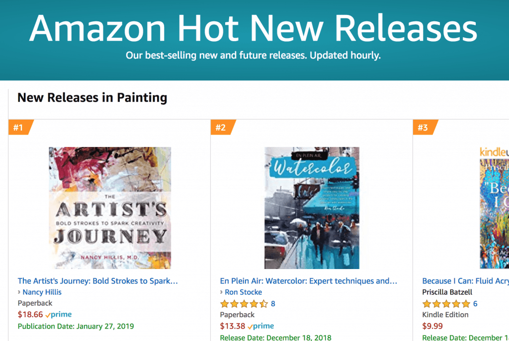 The Artist's Journey by Nancy Hillis, MD   #1 Hot New Release - Painting- Amazon