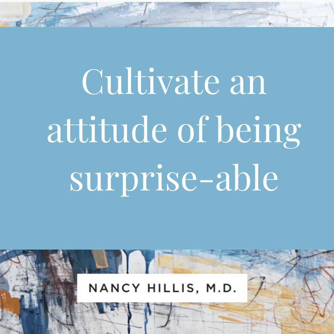 Cultivate an attitude of being surprise-able-nancy hillis artists journey