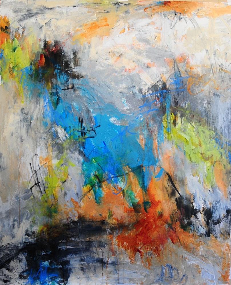 Nancy Hillis | New Smyrna, Mixed media painting on paper #theartistsjourney
