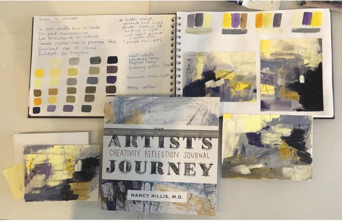 Lorraine Willis Book Review-The Artists Journey Creativity Reflection Journal #creativity #journal #selfhelp #abstract