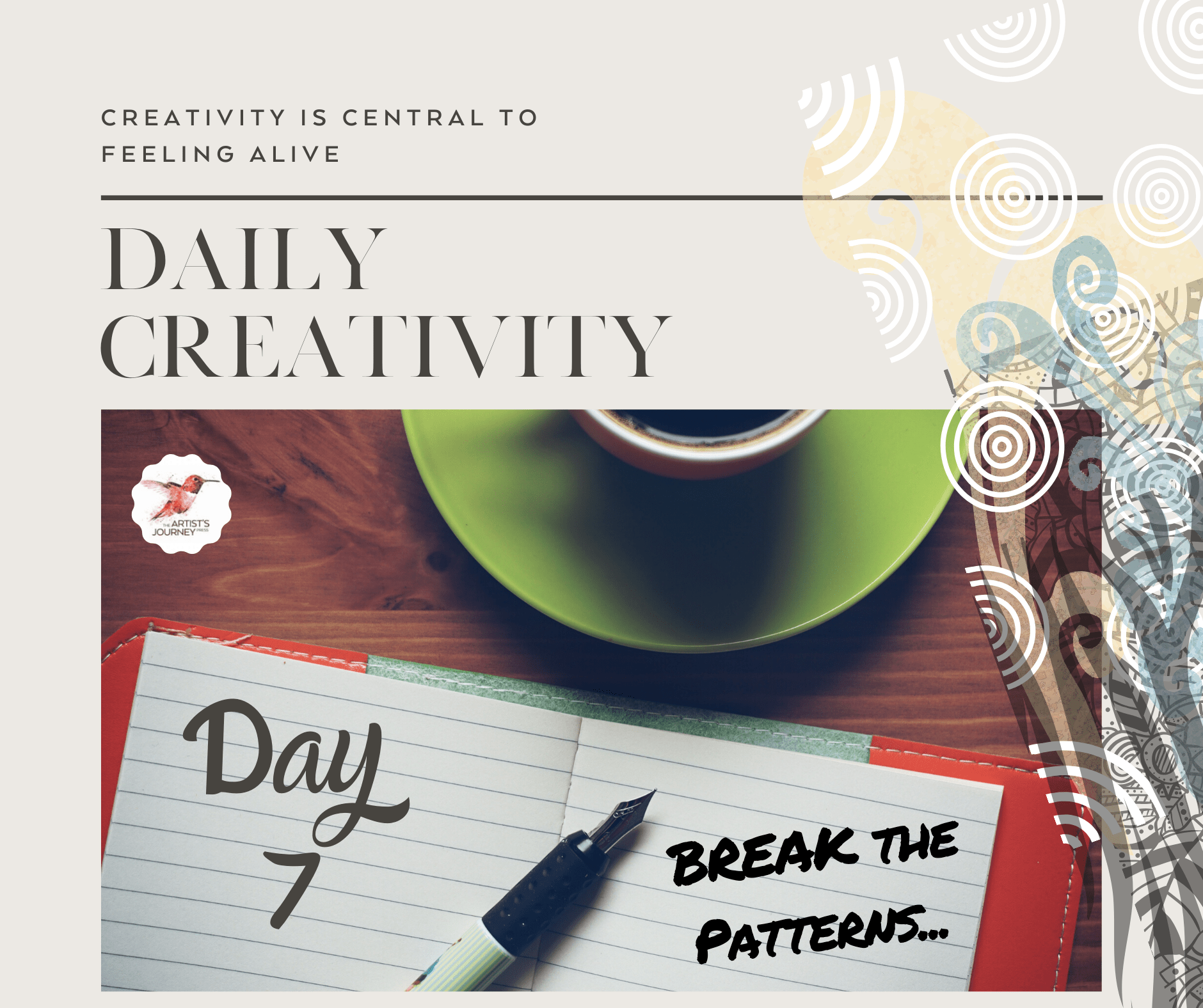 The Artist's Journey Creativity Reflection Journal Creativity Immersion Program- Nancy Hillis MD