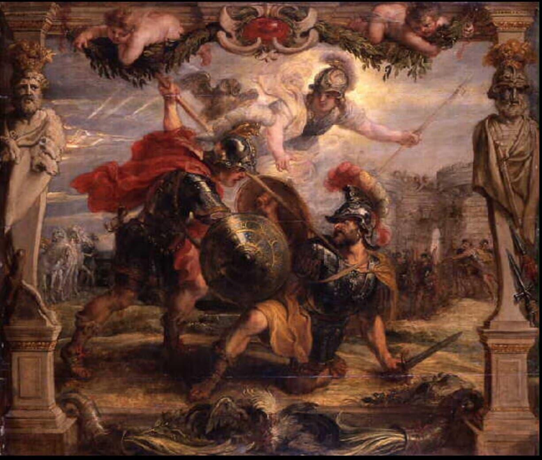 Achilles Slays Hector-Peter Paul Rubens