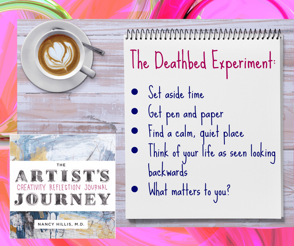 The Artists Journey Creativity Reflection Journal-Blog post-Paradoxes of Creativity-Deathbed experiment-Nancy Hillis