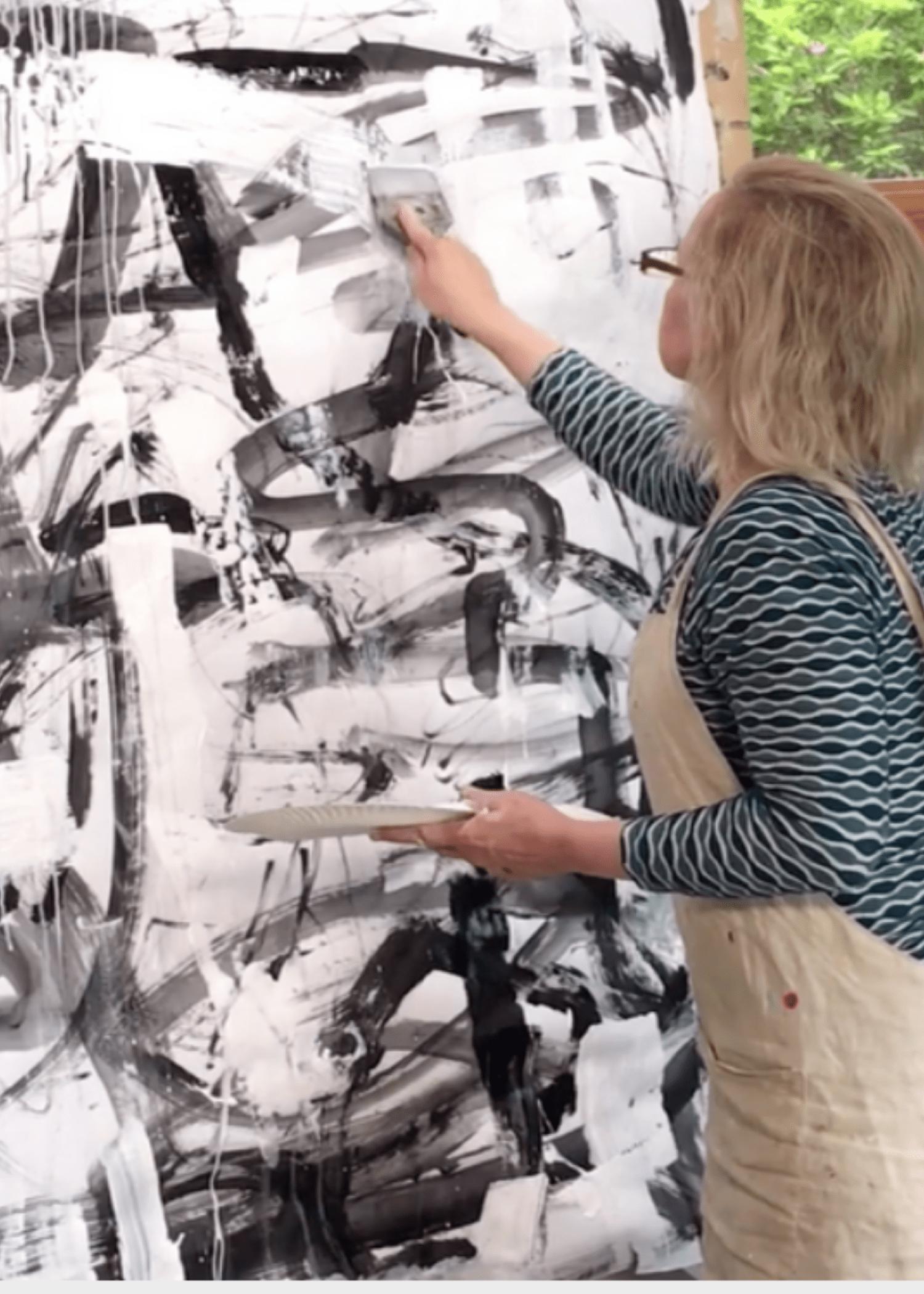Abstract Art Workshop Nancy Hillis