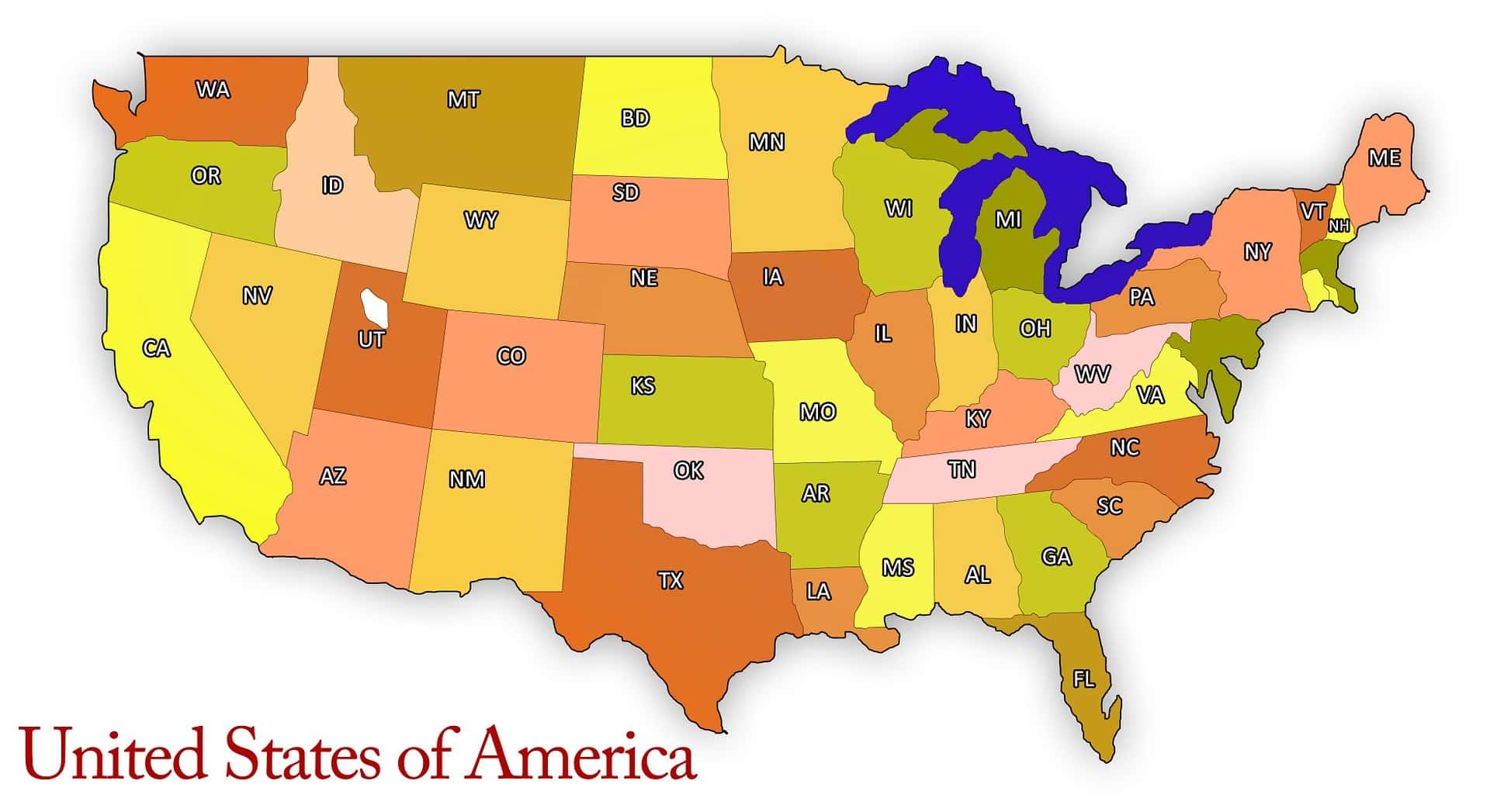 US Six Color Map