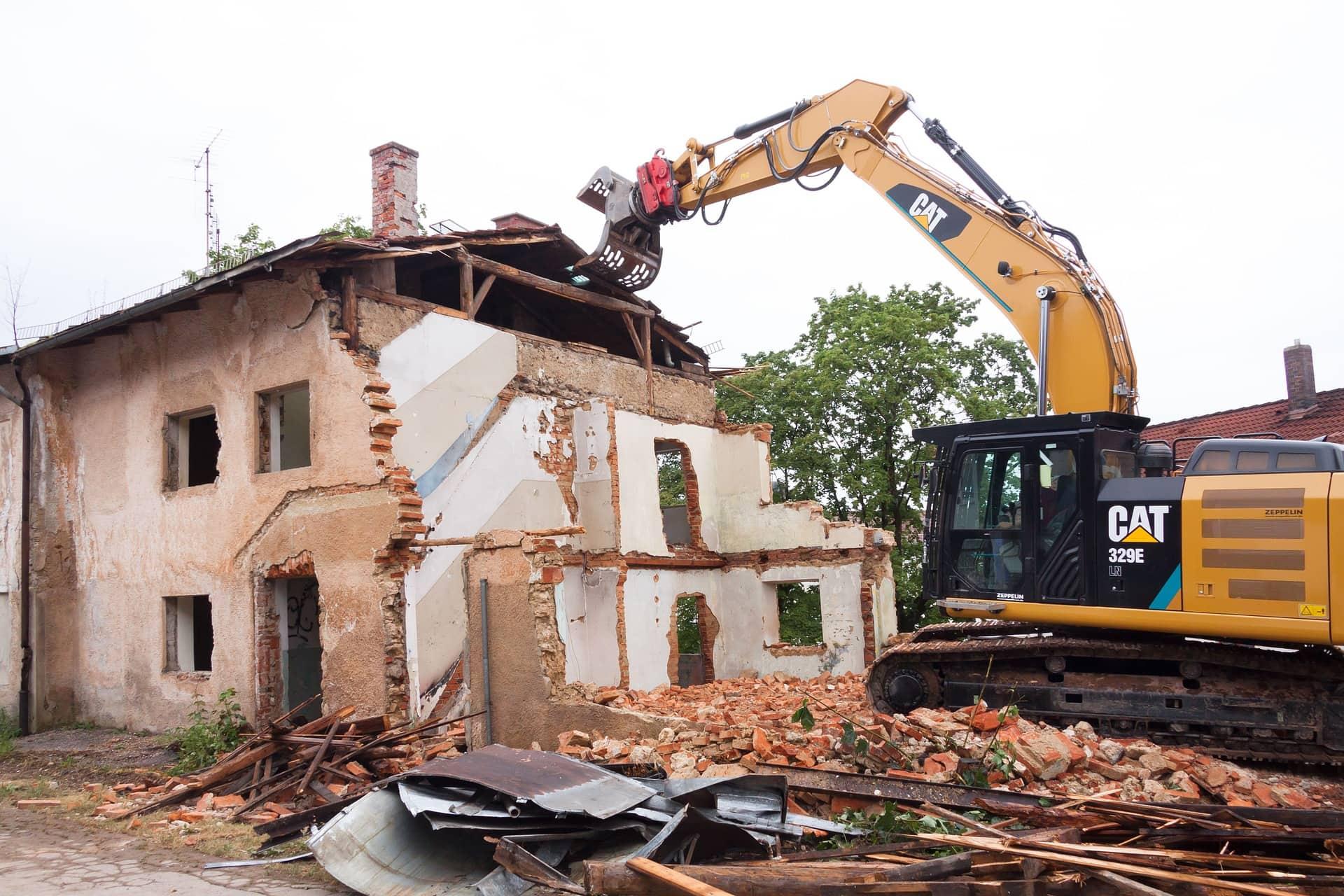 A house demolition