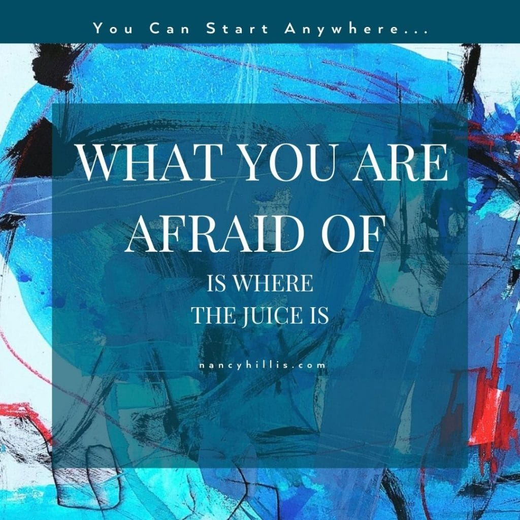 What You Are Afraid Of Is Where The Juice Is- Nancy Hillis MD