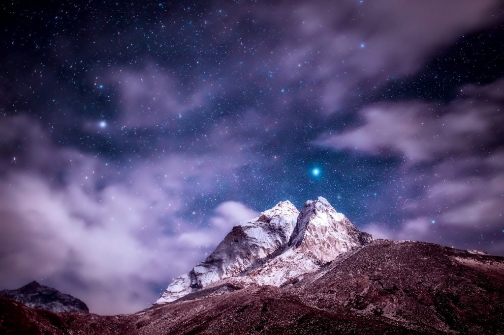 Starry night in Himalayas