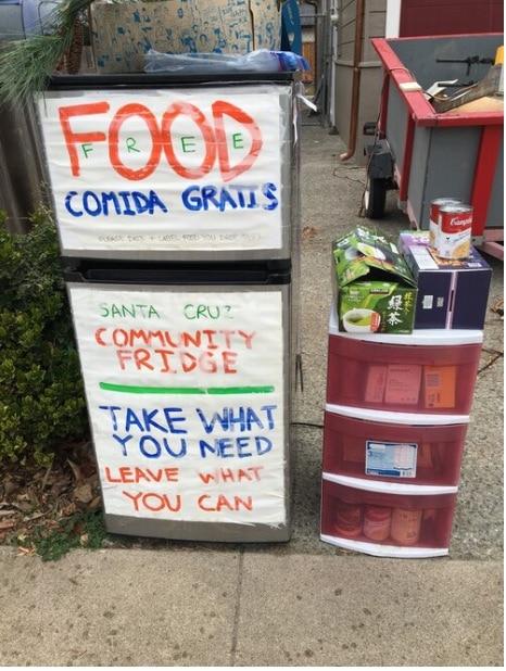 Give/Take Community Fridge Before Enclosure