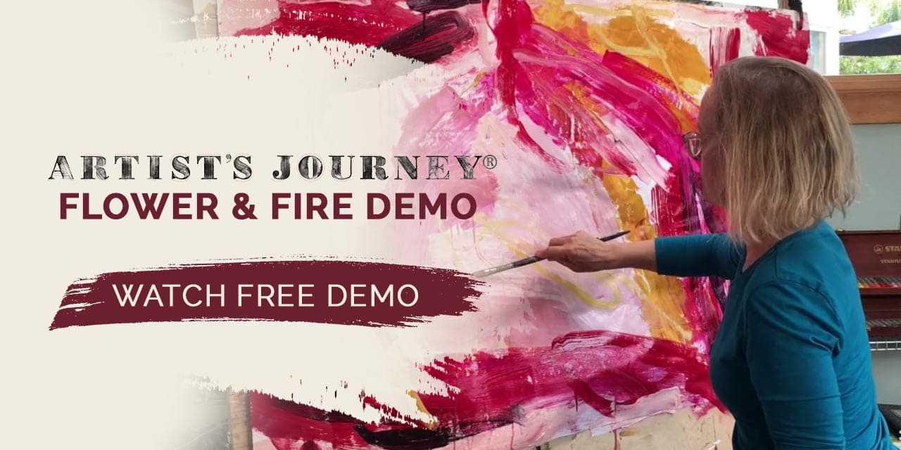 """Painting Demo- """"Fire & Flower"""""""