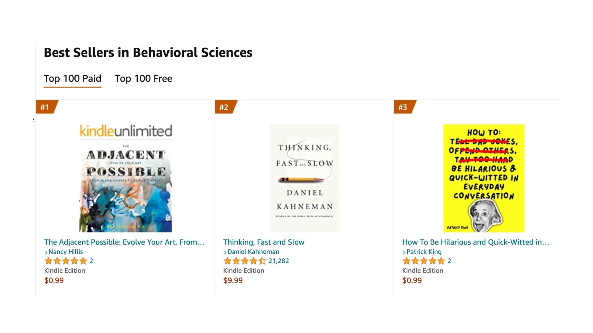The Adjacent Possible #1 Best Seller- Behavioral Sciences