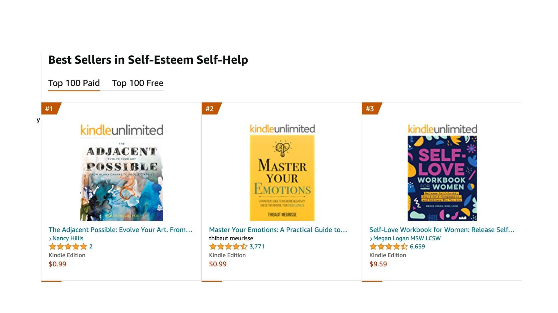 The Adjacent Possible- #1 Best Seller- Self Esteem Self Help