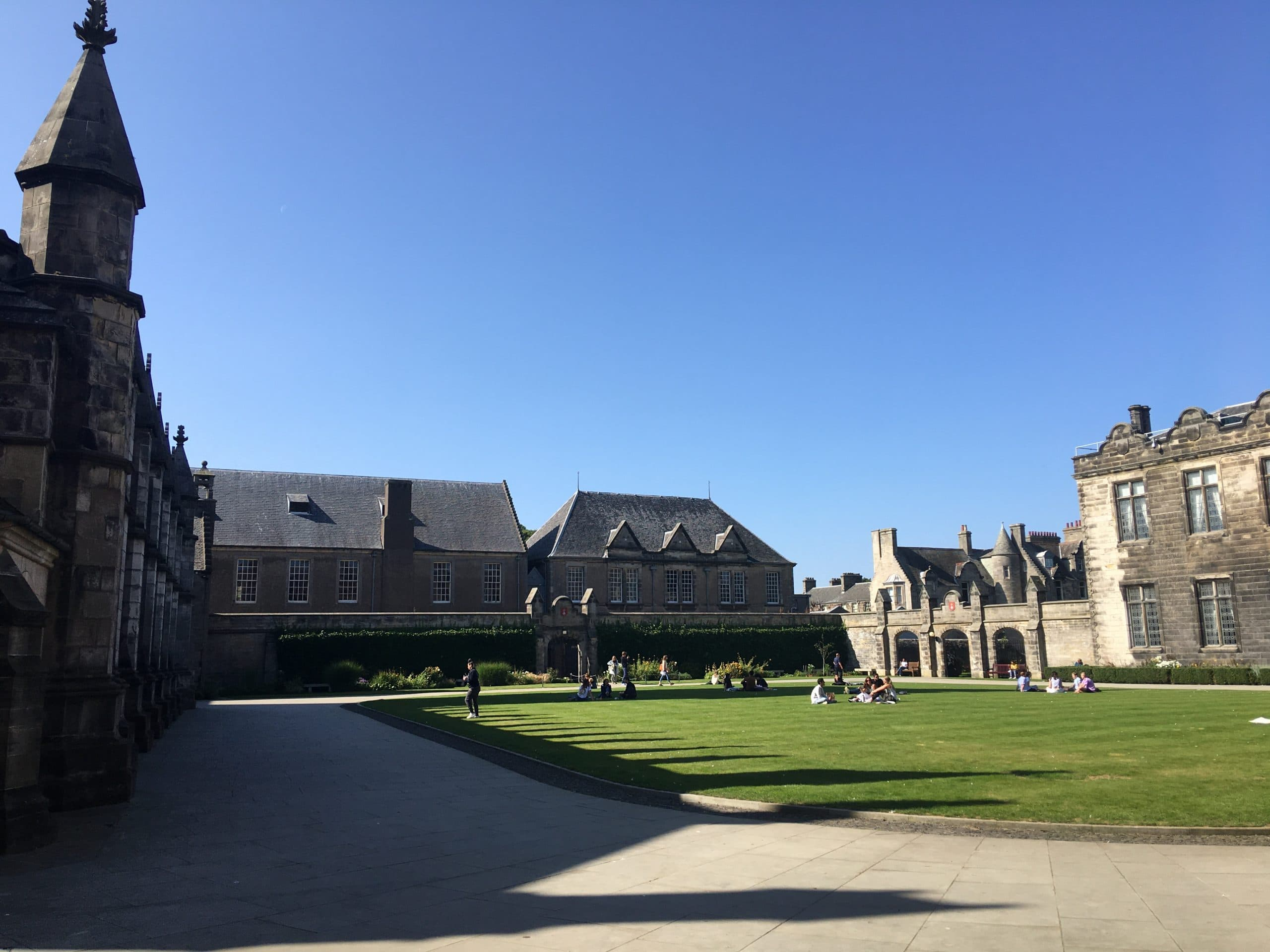 Seeing St Salvator's Quadrangle for the first time